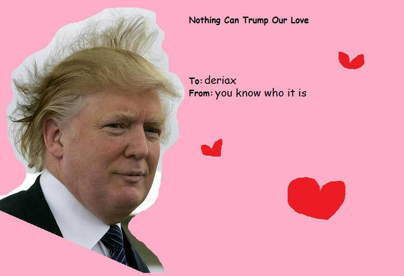 Beautiful Trump Valentines Day Card Corn Hair Collections ...
