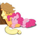 Napping, snuggling, Earth Ponies by PhucknuckL