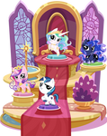 Pocket Ponies in Their Display Doohickey - Royalty
