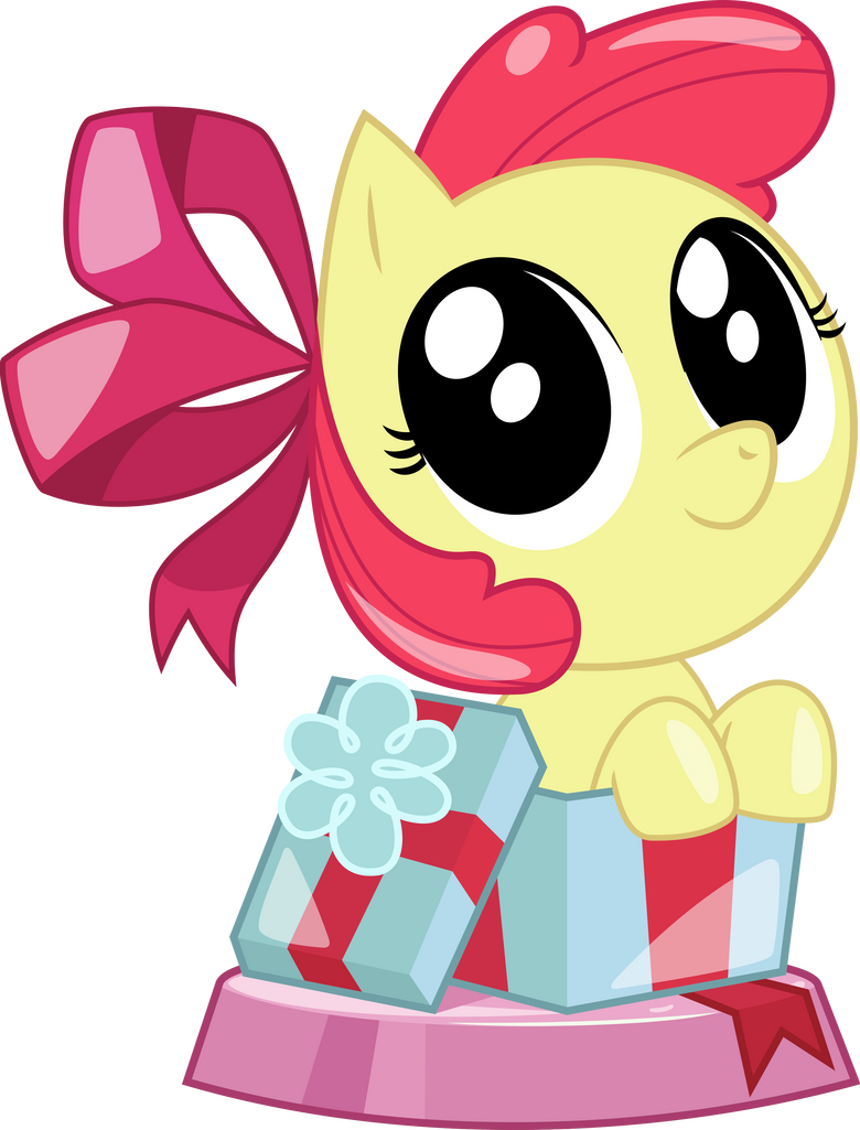 Pocket Pony Peekaboo Apple Bloom by PhucknuckL