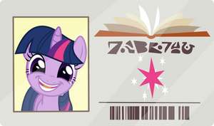 Twilight's Library Card.