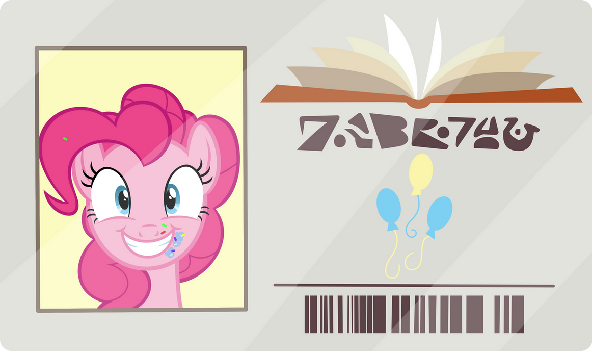 Pinkie's Library Card by PhucknuckL