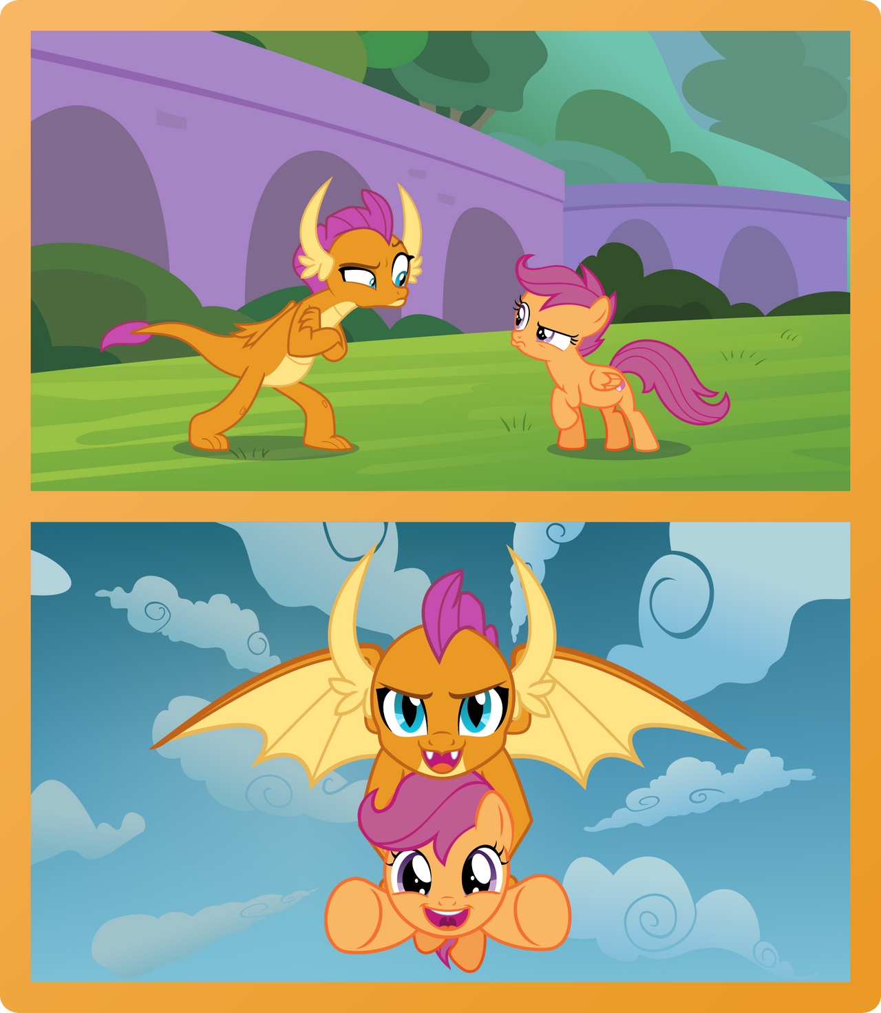 Scootaloo and Smolder. Cut from the same cloth.