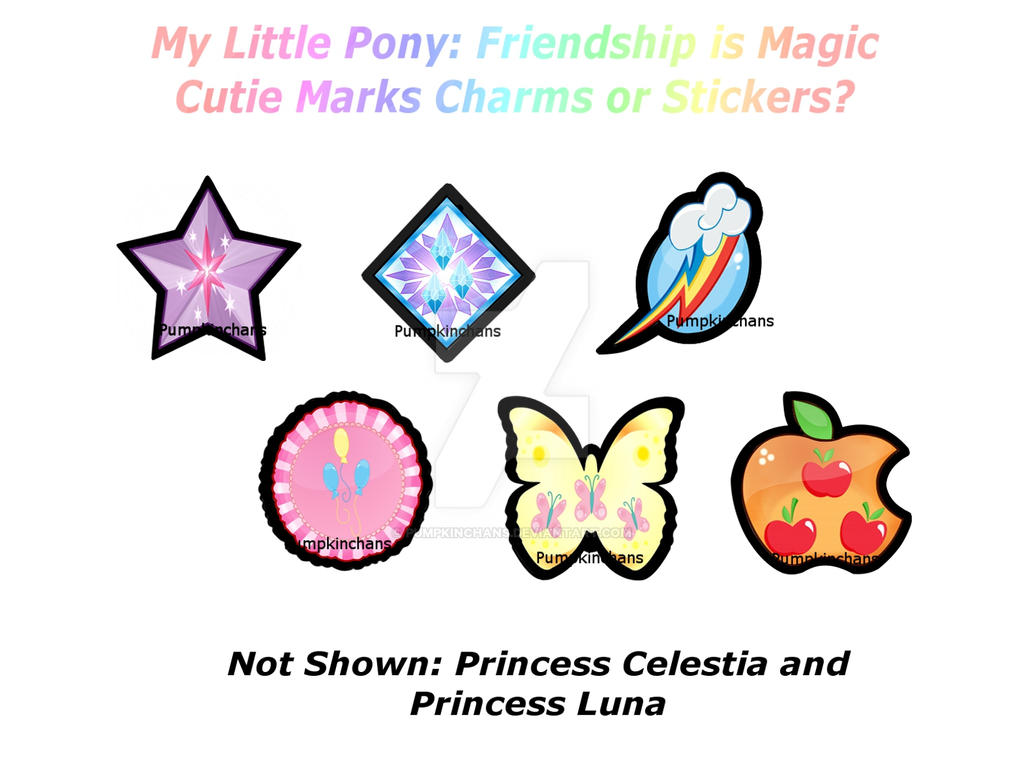 My little pony cutie mark charms or stickers by - My little pony cutie mark wallpaper ...