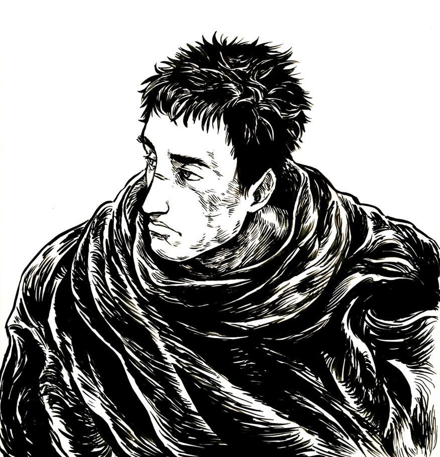 Guts' billowy inky cloak by ohsnap-son