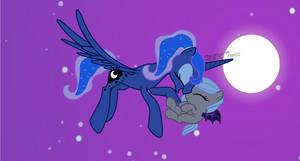 Princess Luna and Moon Light mlp
