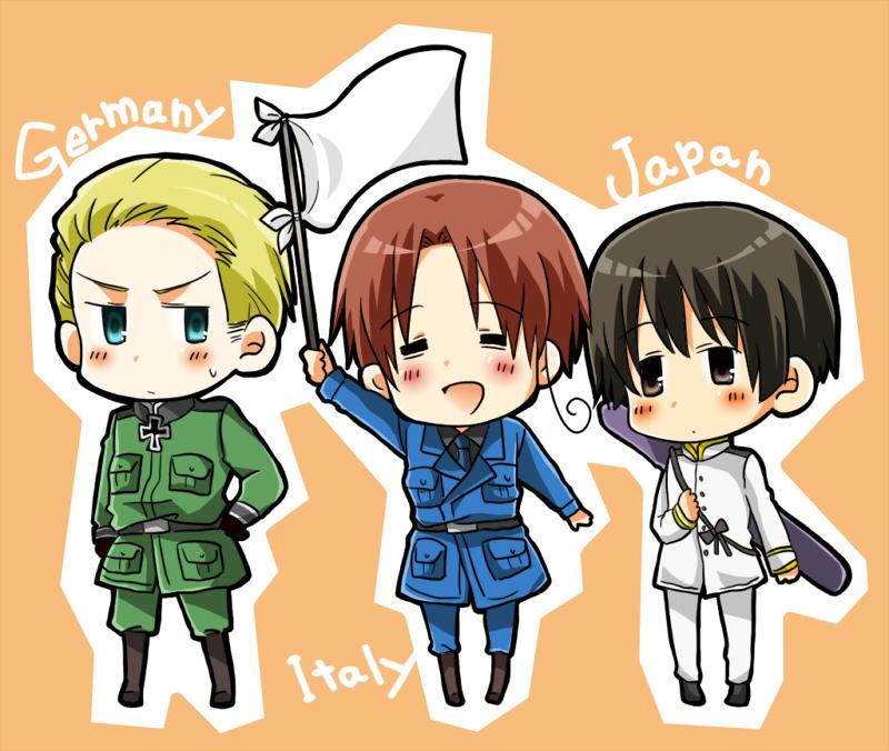 Axis trio by Hajime-Hakumai