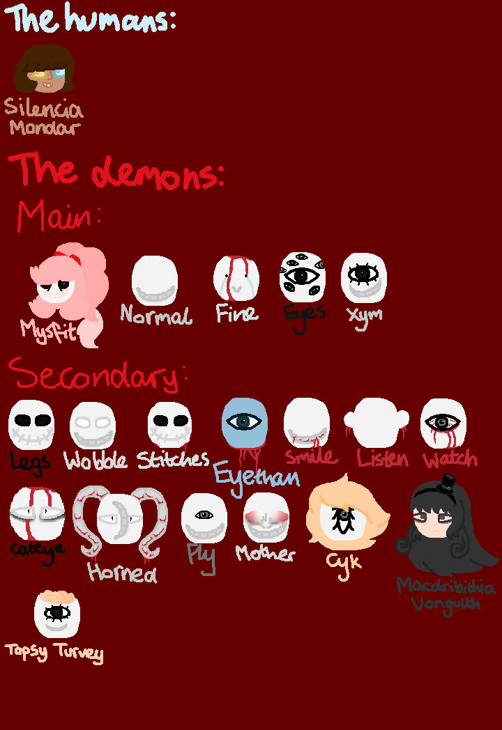 99 Demons And Me - List Of Demons by Polabear-loves-art on DeviantArt