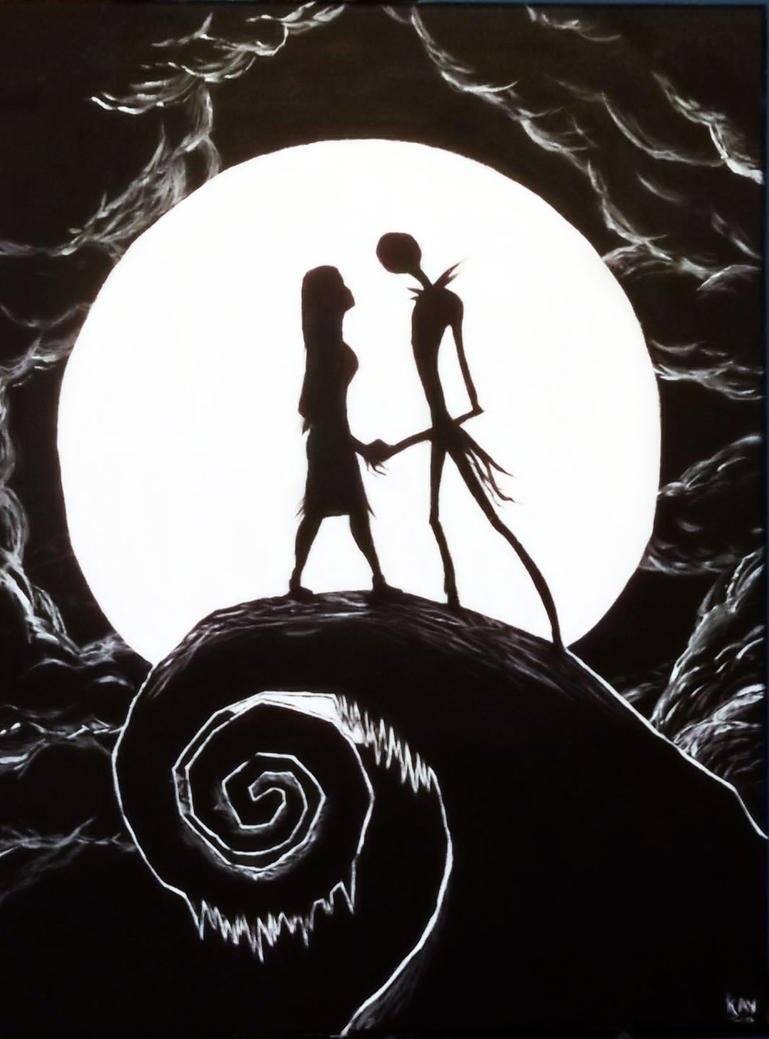 Nightmare before christmas painting by Corpse-boy on DeviantArt
