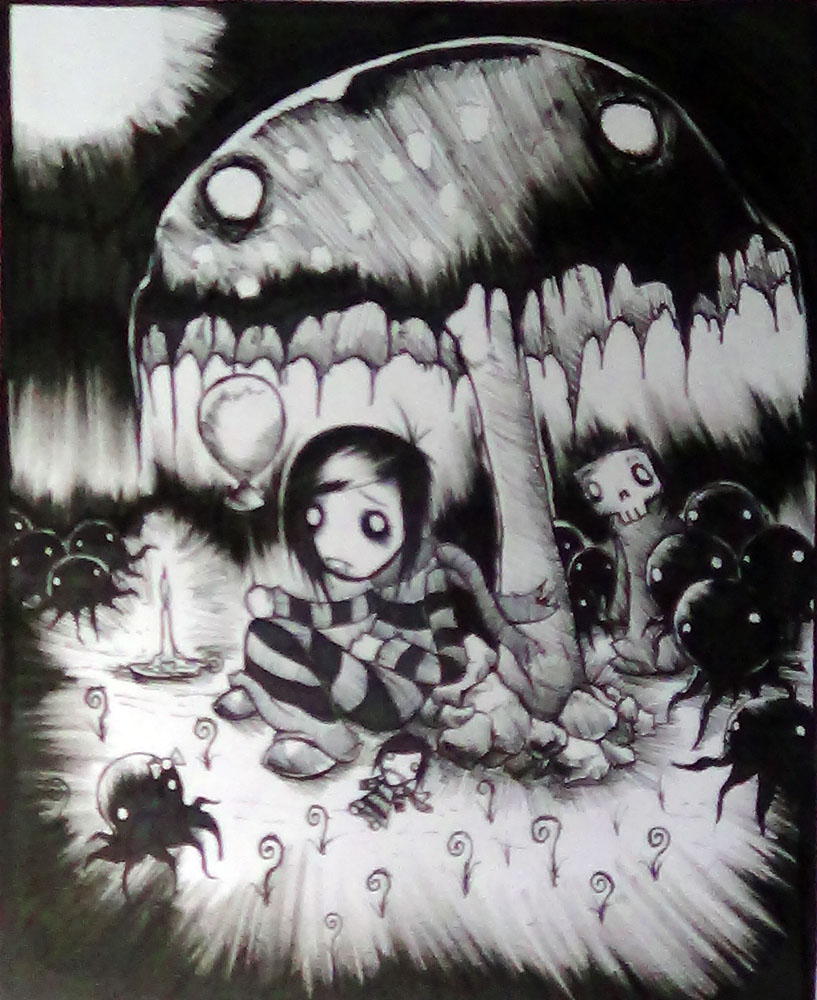 under a mushroom by Corpse-boy