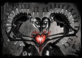 creepy and strange love by Corpse-boy
