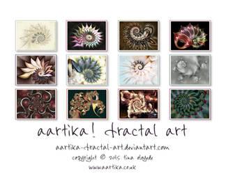 'Fabulous Fractals' Wall Calendar by aartika-fractal-art