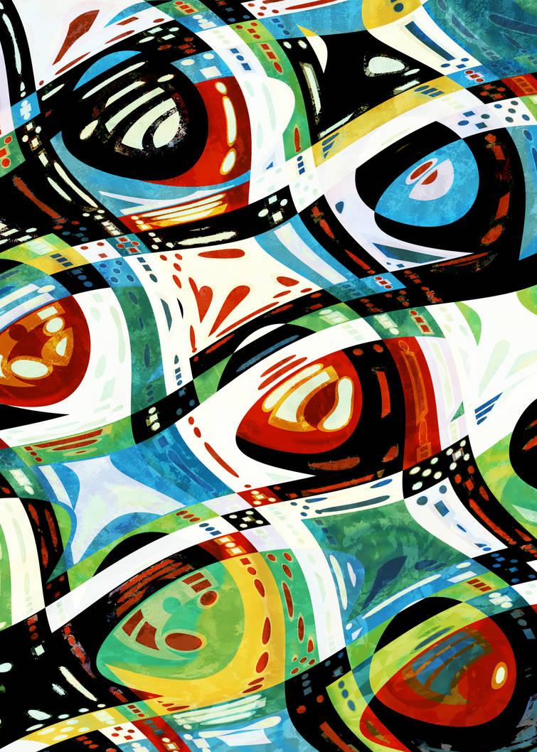 Mad Mondriaan by aartika-fractal-art