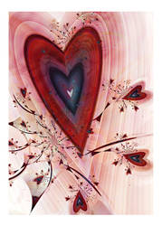 Sweetheart - A Card for Valentine's Day by aartika-fractal-art