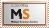Supporting Multiple Sclerosis Society ~ MS Stamp by aartika-fractal-art