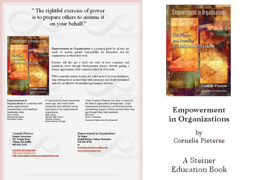 Empowerment in Organisation ~ Book Cover