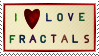 I Love Fractals ~ Stamp by aartika-fractal-art