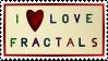 I Love Fractals ~ Stamp by aartika-fractal-art