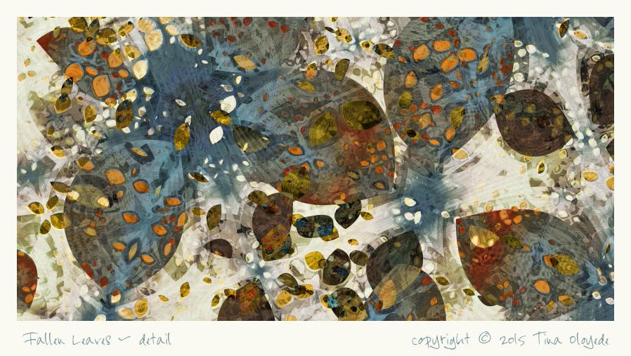 Fallen Leaves-detail by aartika-fractal-art