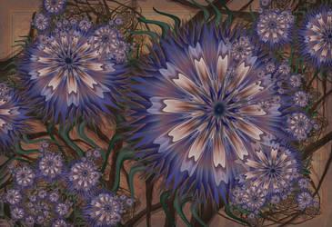Cornflowers by aartika-fractal-art