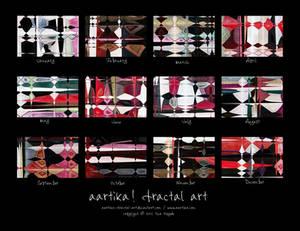 900x600x12 Fractal Art Calendar