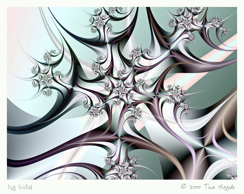 Icy Icicles by aartika-fractal-art