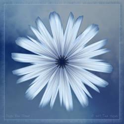 Single Blue Flower by aartika-fractal-art