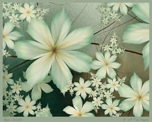 Aqua Clematis by aartika-fractal-art
