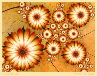 Orange Dahlias by aartika-fractal-art