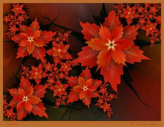 Poinsettias by aartika-fractal-art