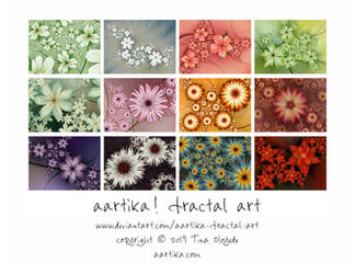 Fractal Flowers Calendar by aartika-fractal-art
