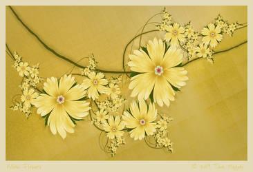 Yellow Flowers by aartika-fractal-art