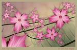 More Pink Flowers by aartika-fractal-art