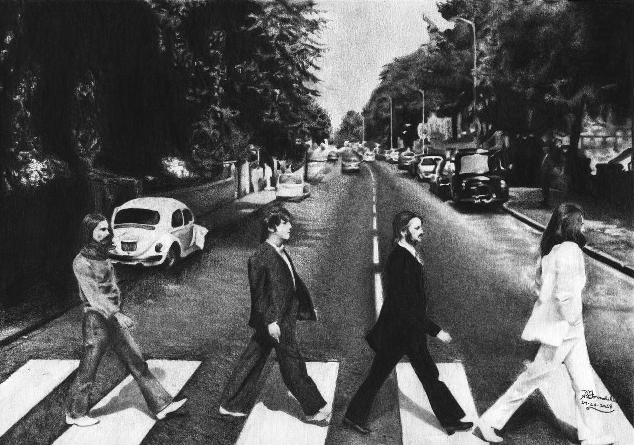 the beatles abbey road by natypedretti on deviantart