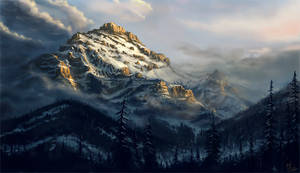 Mountain study by MarschelArts