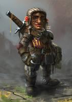 Gnome mercenary by MarschelArts
