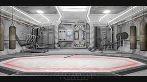Spaceship training room