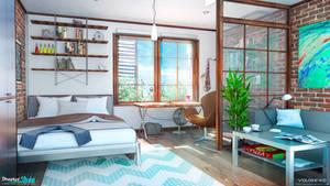 Apartment Bedroom by Voloshenko