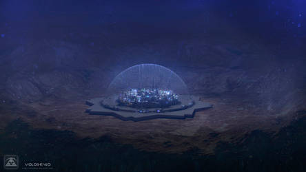 deep underwater city by Voloshenko