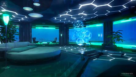 underwater bedroom by Voloshenko