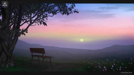 sunset by Voloshenko
