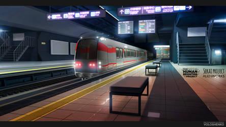 Subway Platform by Voloshenko