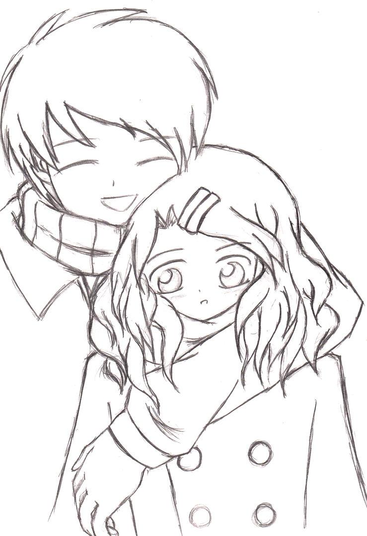 A Heartwarming Hug (Sketch 2008) by keymace101 on DeviantArt