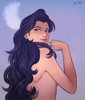 Artemis - goddess of the moon by kittycat291096