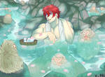 2018 Commission - Hot spring by kittycat291096