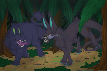 pretty boys frolicing through the woods by Coksii