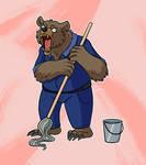 crazy martin the werebear janitor