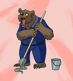 crazy martin the werebear janitor