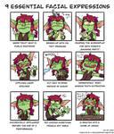 9 essential facial expressions
