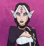 Lady Cassandra and her snake amulet